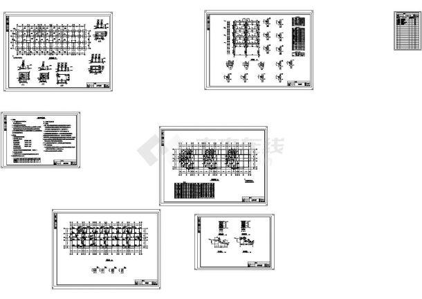 6000平米某六层框架结构住宅楼建施cad图(含计算书,毕业设计)-图二
