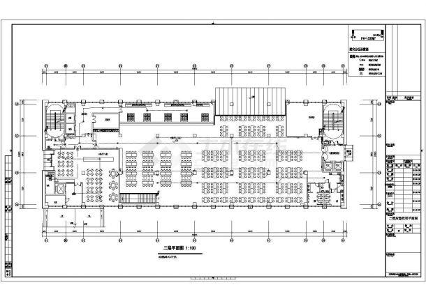 某多层框架结构市级机关后勤服务中心配电设计cad全套电气施工图(含设计说明,含弱电设计)-图二