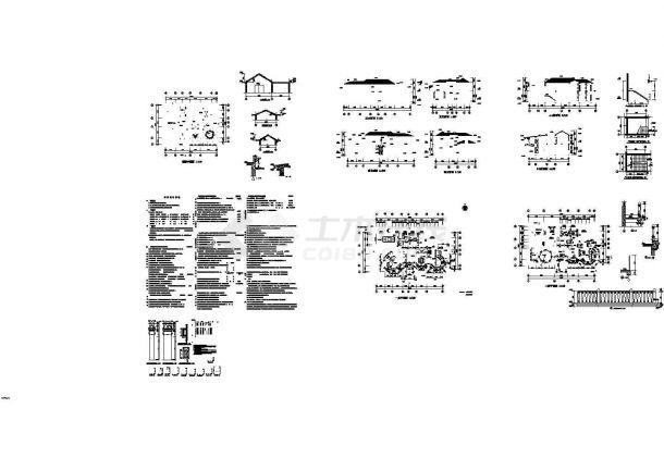 某欧式415平方米二层别墅建筑设计方案图-图二
