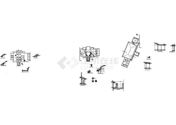 某11.7米二层总统别墅建筑设计方案图-图一