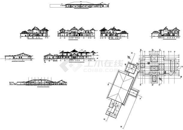 某11.7米二层总统别墅建筑设计方案图-图二