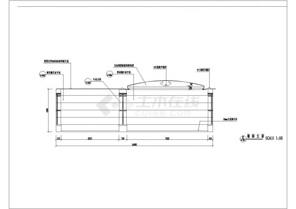 商业银行分行营业厅装修施工CAD图-图二