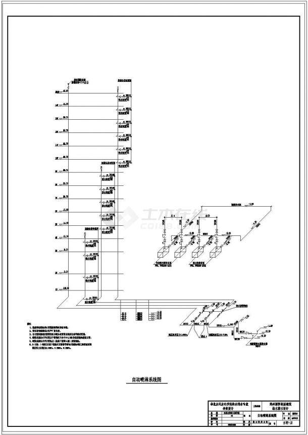 土木工程毕业设计_华北水利水电学院高层建筑给排水毕业设计图纸-图一
