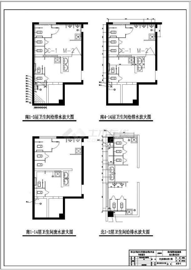 土木工程毕业设计_华北水利水电学院高层建筑给排水毕业设计图纸-图二