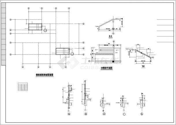 某小区幼儿园框架结构设计cad图纸-图一