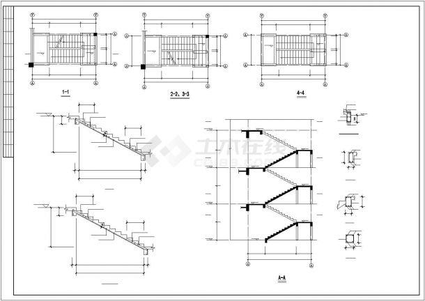 某小区幼儿园框架结构设计cad图纸-图二