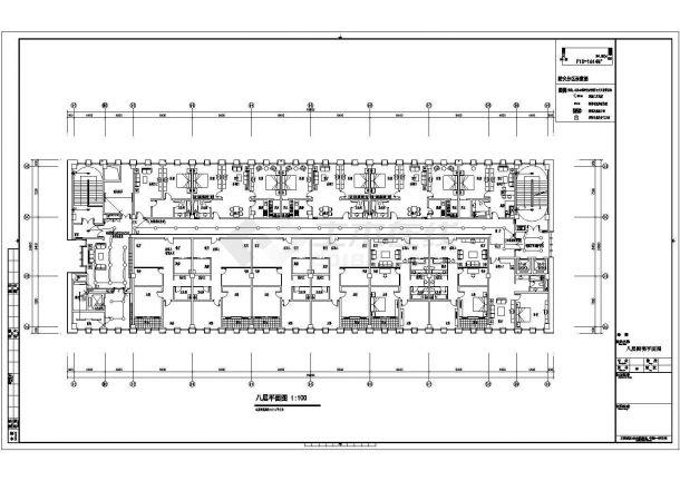 某8层机关后勤保障中心配电设计cad全套电气施工图纸(含设计说明,含弱电设计,含计算书)-图一