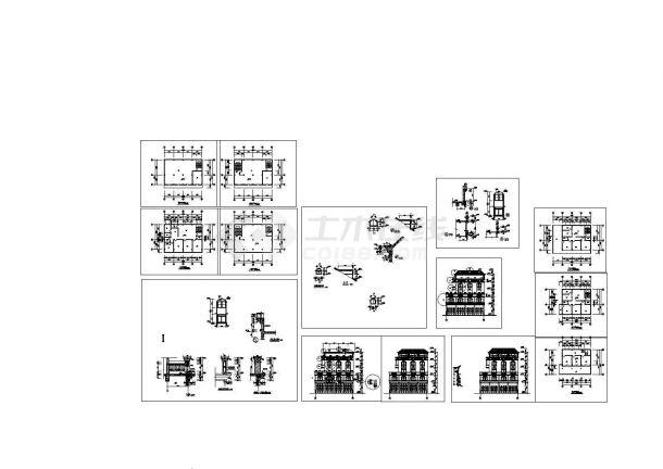 五层别墅住宅建筑设计施工cad图纸,共十四张-图一