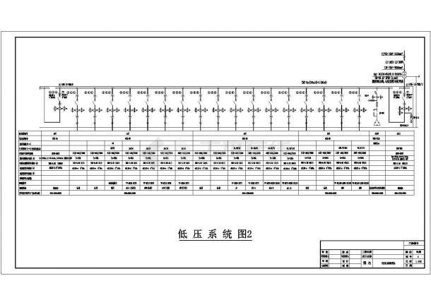 某低压变电所设计cad详细电气施工图-图二