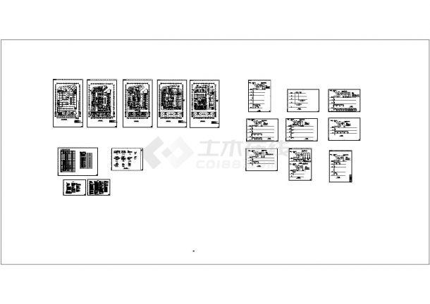 [江西]某地商业中心广场暖通空调全套设计施工cad图-图一