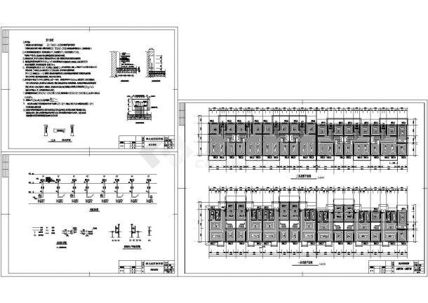 城北独体地板辐射采暖设计cad施工图纸-图一
