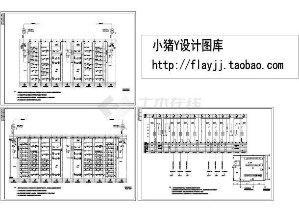 中心医院综合楼配电系统设计施工cad图纸,共三张-图一