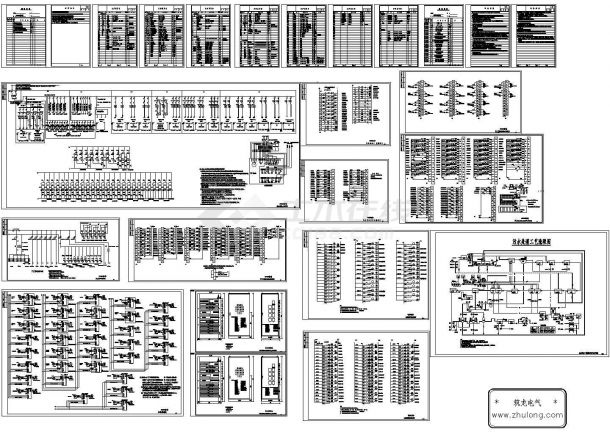 某污水处理站全套电气控制原理图-图二