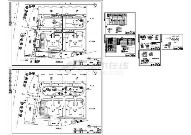 某住宅小区室外综合管线电气图纸-图二