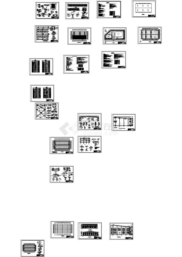 某地轻钢结构厂房钢结构毕业设计图(建筑、结构) cad施工图设计-图一
