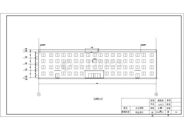 某多层框架结构商业办公楼毕业设计cad建筑施工图(含设计说明,含结构设计,含计算书)-图一