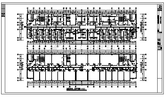土木工程毕业设计_办公楼设计_某市九层办公楼中央空调系统设计cad图(含毕业设计,共九张)-图二