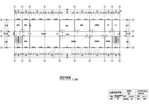 某四层框架结构办公楼毕业设计cad全套建筑施工图(含设计说明,含结构设计,含计算书、任务书)-图一