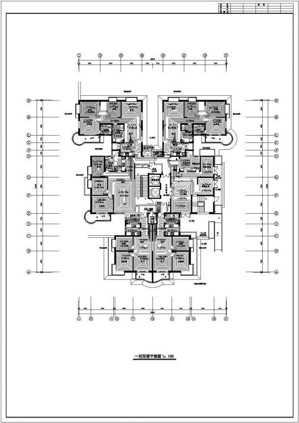 某高层住宅楼采暖及防排烟设计cad全套施工图纸( 含设计说明)-图一