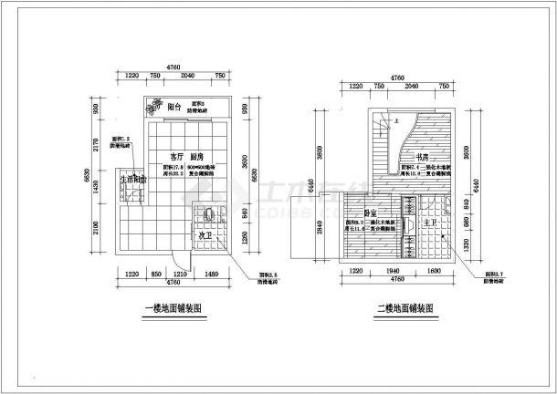 小跃层家装全套装修施工图-图二