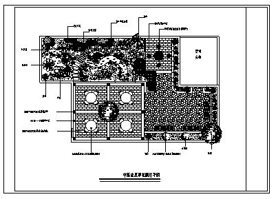 医院设计_某中医院屋顶花园绿化设计cad图(含八种设计)-图一