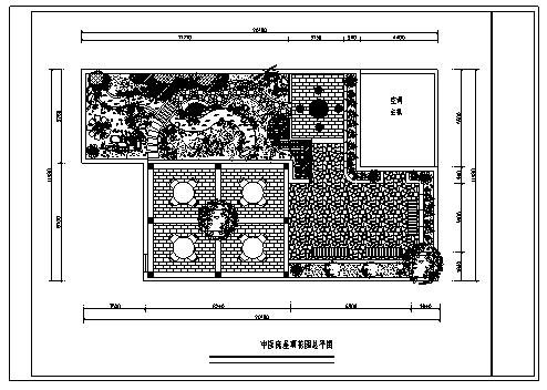 医院设计_某中医院屋顶花园绿化设计cad图(含八种设计)-图二