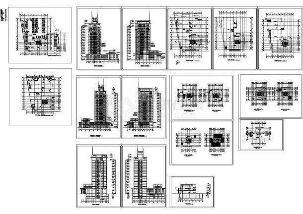 十九层21288.4平米钢结构写字楼建筑设计施工图-图一