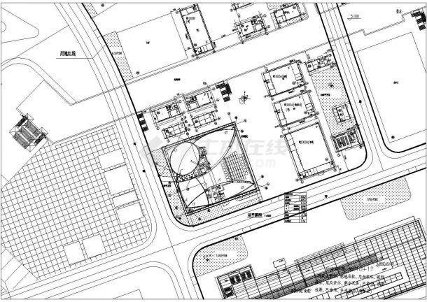 6141㎡展览展馆建筑设计方案图-图一