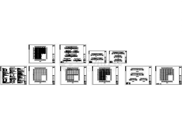 厦门住宅设计的钢结构工程施工cad图,共十张-图二