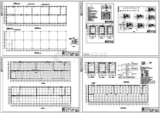 单层工业厂房电气CAD施工图-图一