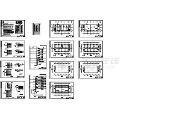 某九层学生宿舍楼电气施工图-图二