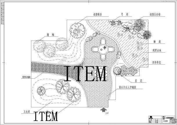 某小区多层住宅楼屋顶花园景观设计cad全套施工图( 含设计说明)-图二