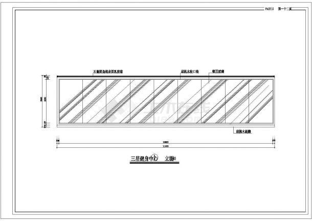 某综合餐饮娱乐大都会室内精装修设计cad全套施工图-图一