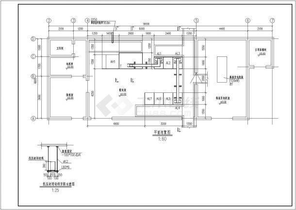 某高速收费站配电房设计cad全套电气施工图纸( 含设计说明)-图二
