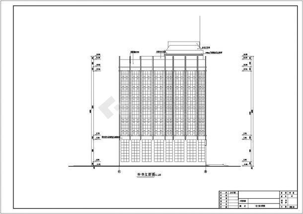 某建筑面积11305.82平米八层框架结构大学实验楼毕业设计cad全套建施图纸(含设计说明,含结构设计,含计算书)-图一