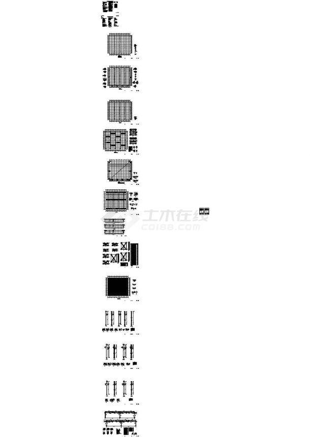 江苏某排架厂房结构设计施工图(设计说明)-图一