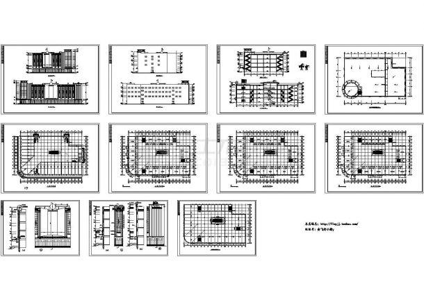 四层百货商场建筑cad设计图-图二
