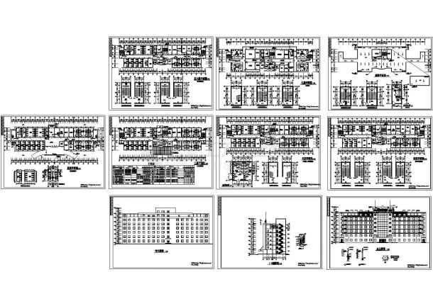 某地7层医院住院部全套建筑施工图【平立剖 卫生间大样 病房详图】-图一