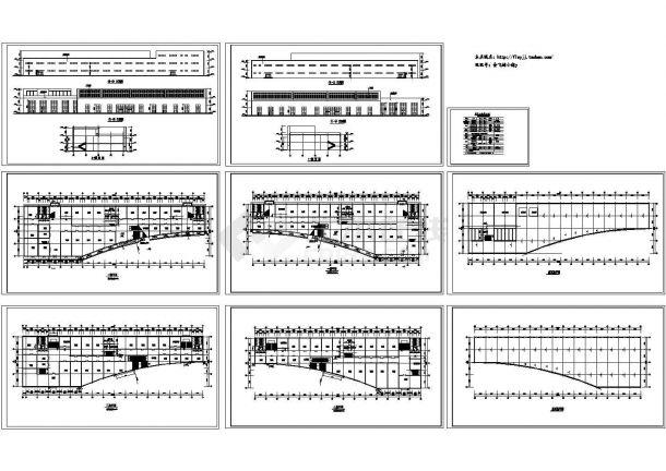 二层商场建筑cad设计图纸-图二