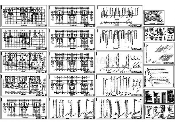 十五层商住两用楼给排水设计建筑施工图-图一