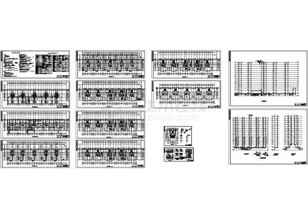 十五层5单元2.5万平米村民区商住楼给排水设计施工图-图一
