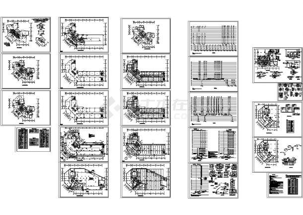 十八层商住两用楼给排水设计施工图-图一