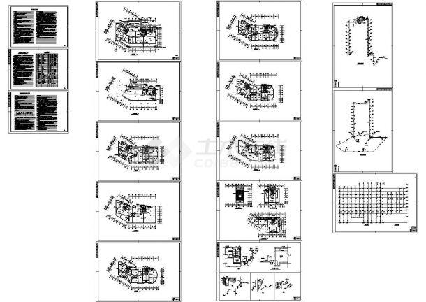 某市十一层商住楼给排水设计施工图-图一