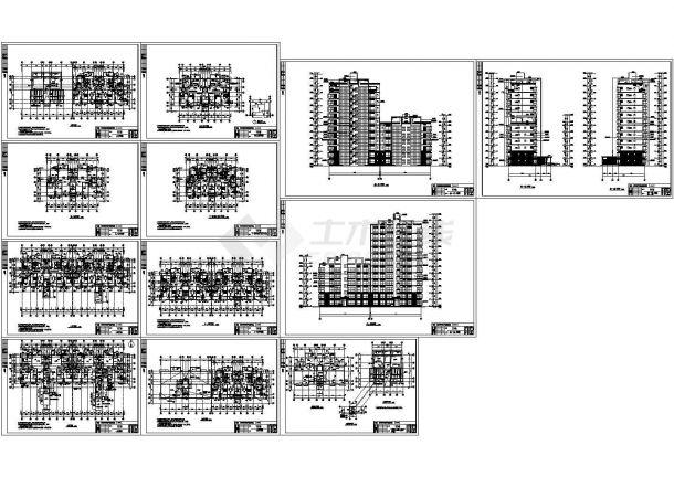 某江苏12层小高层住宅楼建筑设计方案图-图一