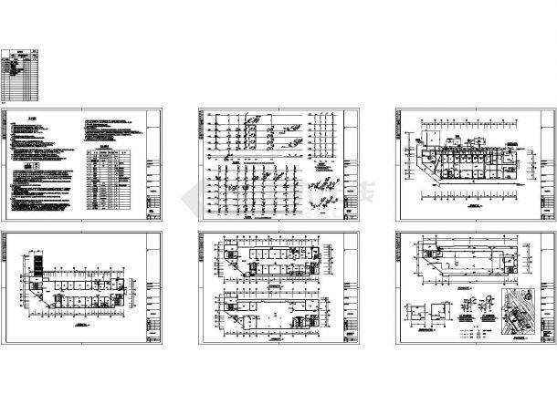 6层3889.14平医院病房综合楼给排水设计cad施工图-图一
