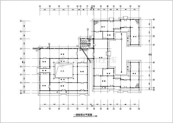 四川某组合四合院给排水施工图纸-图二