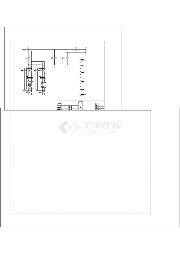 两泵互备电气原理图cad-图一