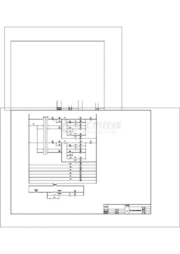 两泵互备电气原理图cad-图二