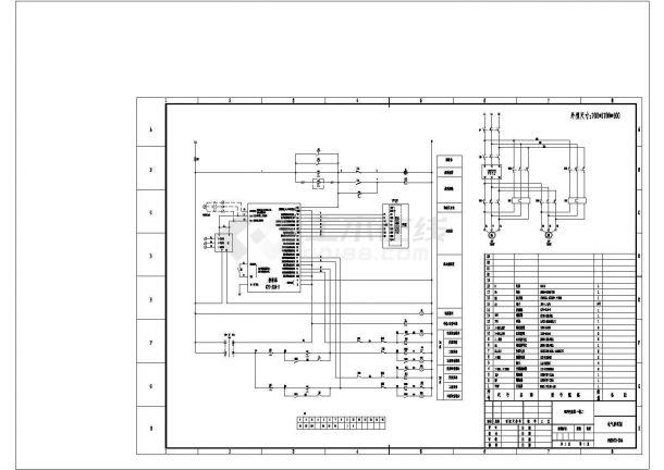 变频一拖二电气原理图CAD-图一