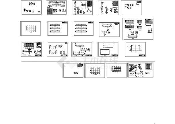 某市大型双层厂房建筑设计施工图-图一